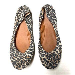Lucky Brand Animal Print Leather Ballet Flats 9